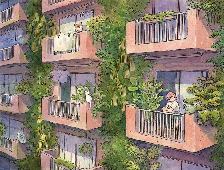 Essa artista finlandesa mostra em ilustrações a beleza da solidão
