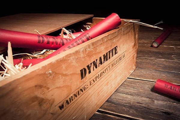 7 fatos surreais sobre a dinamite