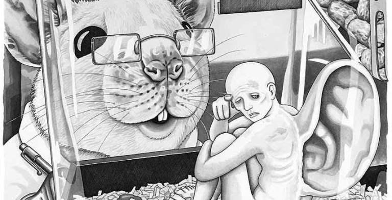 16 ilustrações que invertem o lugar dos humanos e dos animais