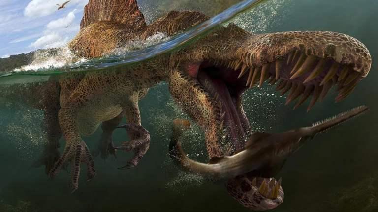O misterioso dinossauro que tinha cabeça de crocodilo, garras de urso e ainda nadava