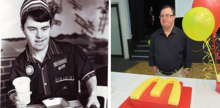 Homem com síndrome de down comemora 30 anos na empresa que o acolheu