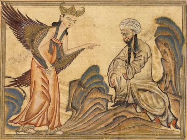 Mohammed Receiving Revelation From The Angel Gabriel 600x452, Fatos Desconhecidos