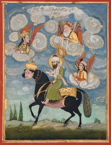 Portrait Of The Prophet Muhammad Riding The Buraq Steed   Google Art Project 386x500, Fatos Desconhecidos