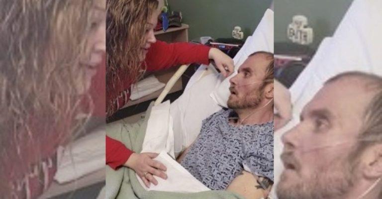 Vídeo emocionante mostra mulher cantando música preferida de marido antes dele morrer