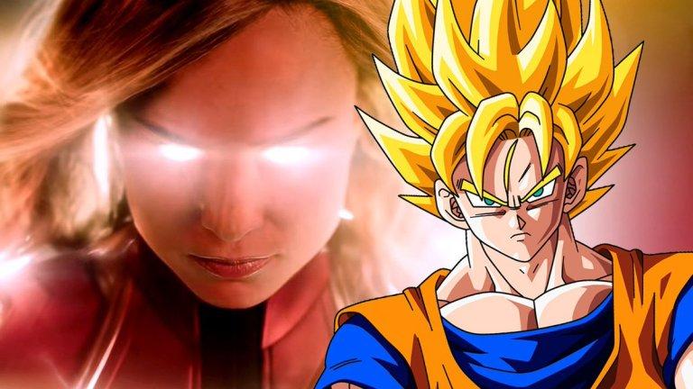 Fãs comparam filme da Capitã Marvel com Dragon Ball Z