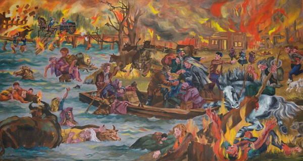 Illustration Of Peshtigo Fire 600x319, Fatos Desconhecidos