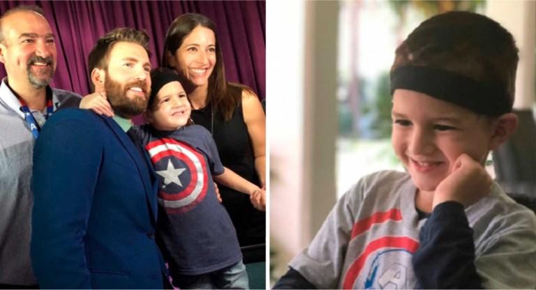 Chris Evans convida garoto de 5 anos com câncer para a estreia mundial de Vingadores 4