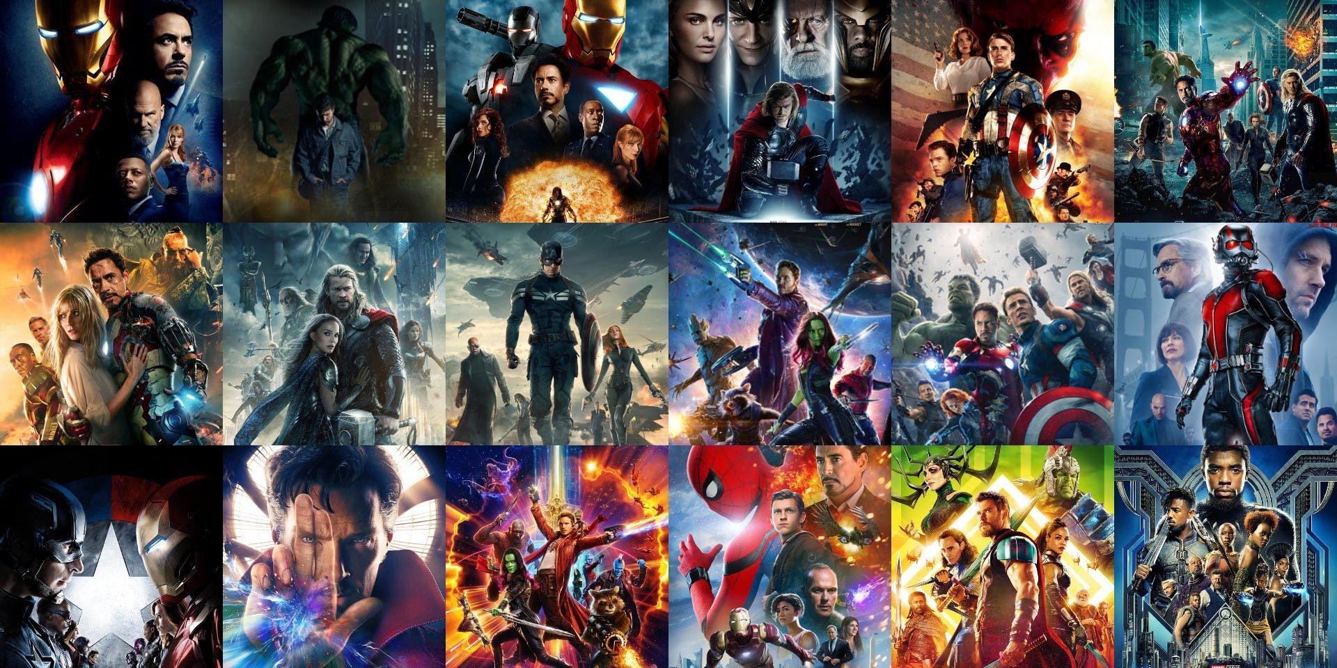 De quanto tempo você precisa para assistir todos os filmes da Marvel?