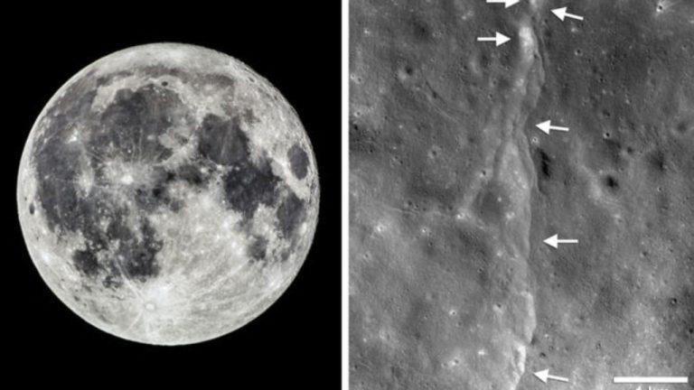 Aparentemente a Lua está encolhendo