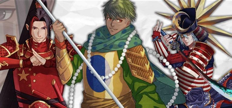 Projeto transforma bandeiras nacionais em personagens de anime