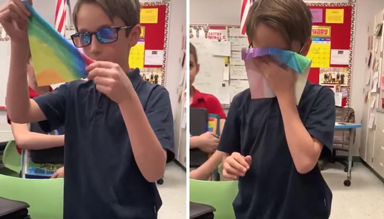 Garoto usa dinheiro da mesada para comprar óculos para amigo daltônico ver as cores