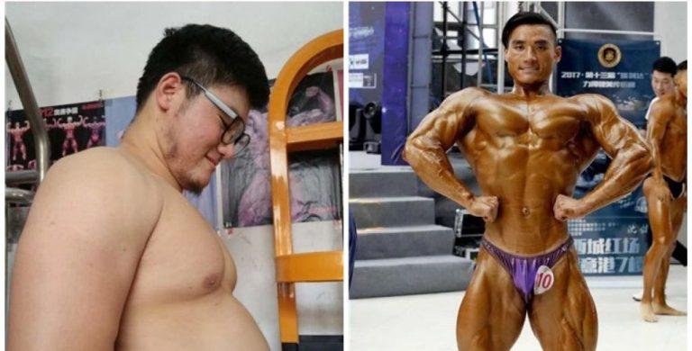 A história do chinês que foi de obeso a bodybuilder em 180 dias