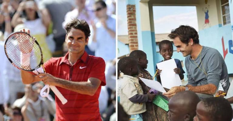 Roger Federer oferece comida e educação para 1 milhão de crianças
