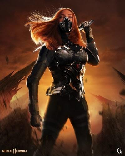 Camille Vialet Mortal Kombat Black Widow 400x500, Fatos Desconhecidos