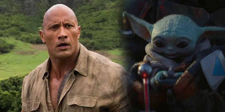 Nem mesmo o The Rock resistiu aos encantos do Baby Yoda