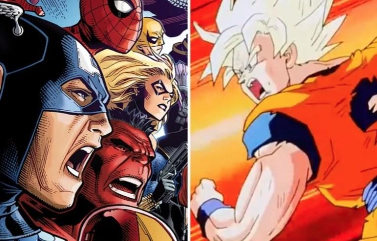 Assim ficariam os personagens de Dragon Ball se fossem da Marvel