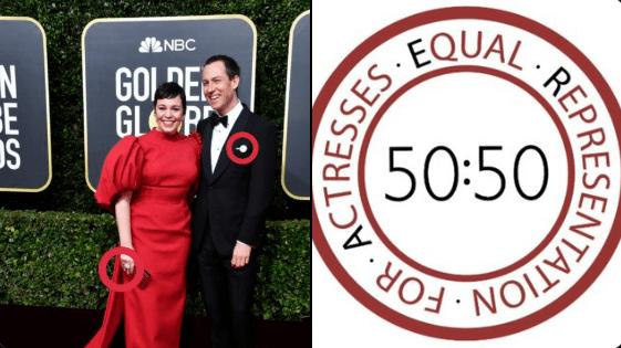 O que significa o 50:50 que as celebridades usaram no Globo de Ouro?