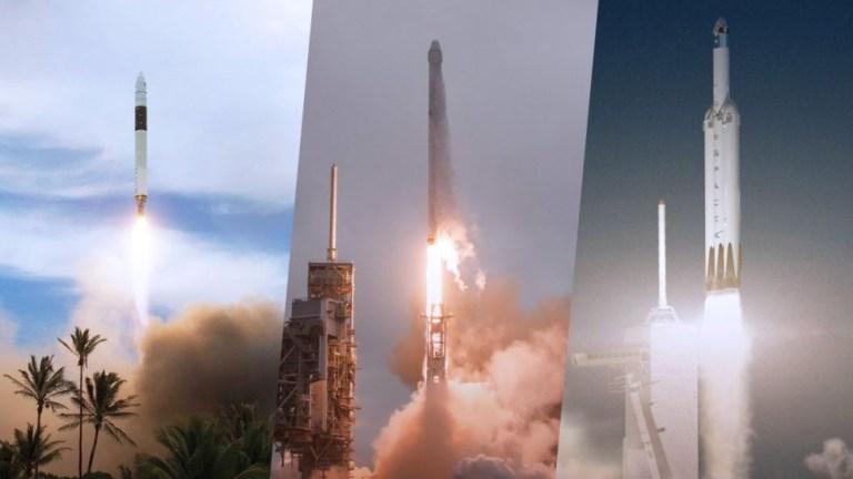 7 fotos que mostram a evolução de foguetes espaciais da SpaceX ao longo dos anos