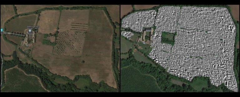 Cidade romana abandonada há séculos foi descoberta por radar de penetração no solo