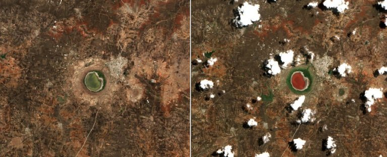 Esse lago de cratera de meteorito na Índia mudou de cor de forma misteriosa durante a noite