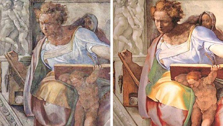 7 obras que foram restauradas, mas ficaram bem diferentes de sua versão original