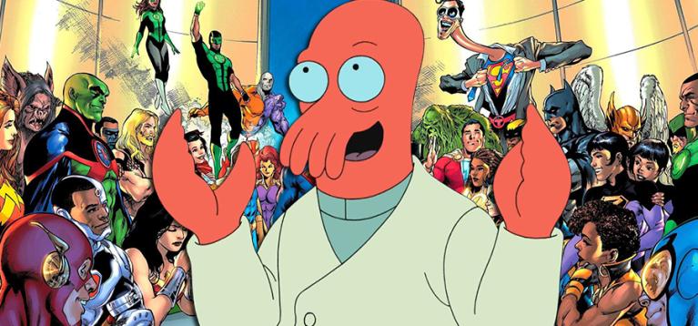 Fãs descobrem conexão entre Futurama e o Universo DC