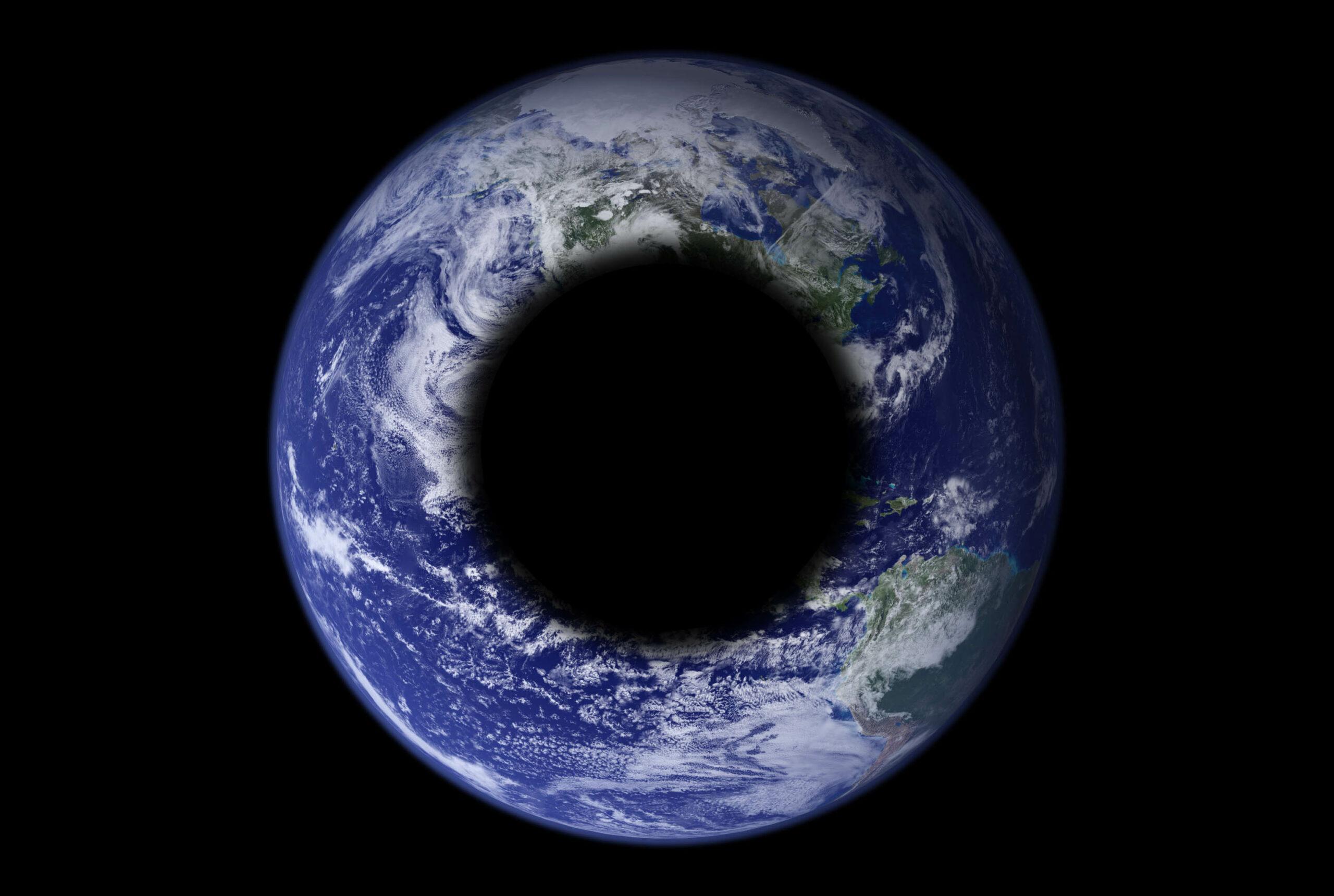 Artigo científico estranho diz que tem um buraco negro no centro da Terra