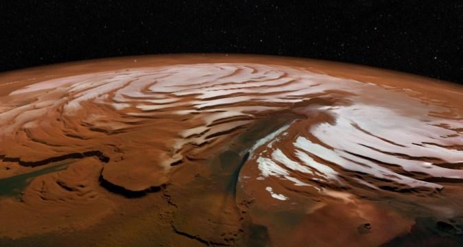 Rede de lagos ocultos foram encontrados embaixo da superfície de Marte
