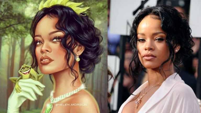 Artista transformou celebridades em desenhos famosos da Disney
