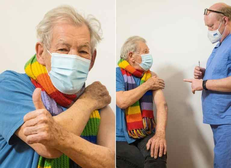 Ator de 'Senhor dos Anéis' é a primeira celebridade a receber a vacina contra o COVID-19