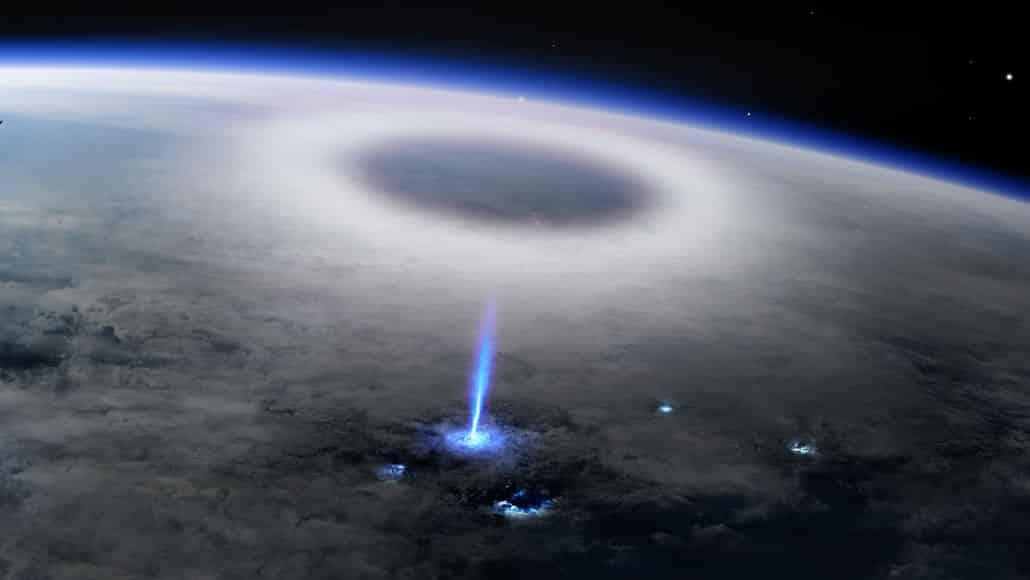 Estação Espacial detectou raios 'jato azul'