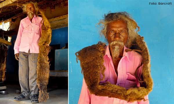 Conheça o homem que ficou 40 anos sem lavar os cabelos