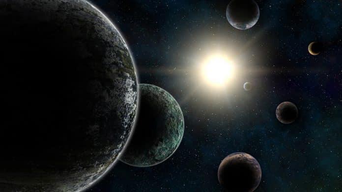 Seis planetas alienígenas foram encontrados orbitando em uma forma complexa  e rara