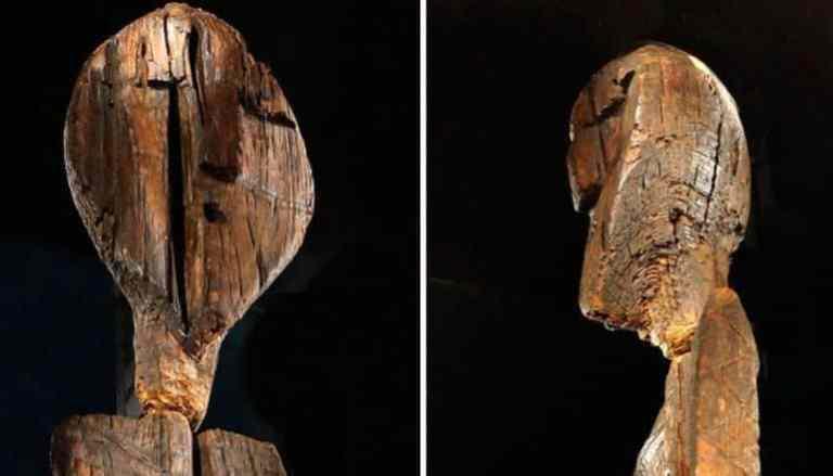 A estátua de madeira conhecida mais antiga do mundo é sete mil anos mais velha que Stonehenge
