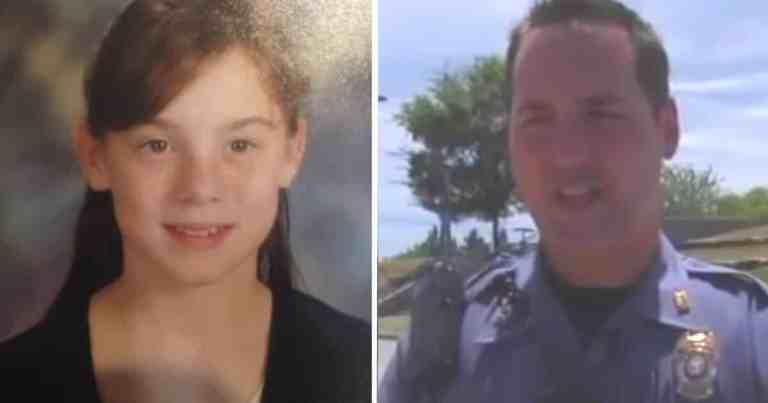 Essa garota acenava todos os dias para um policial até que ele resolveu checar sua casa