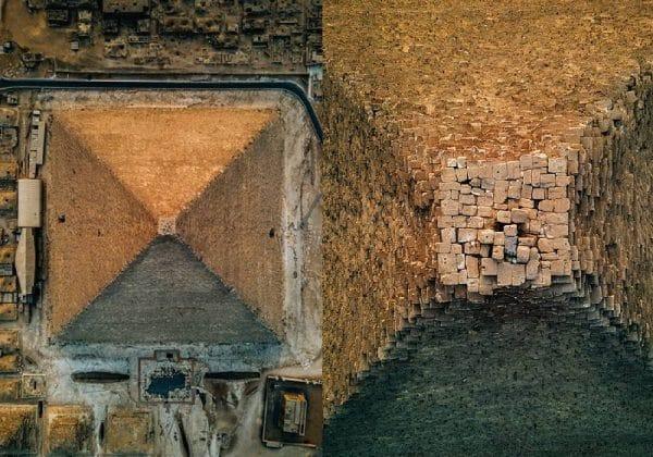 Drone faz imagens aéreas impressionantes das Pirâmides de Gizé como ninguém nunca viu