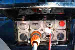 Film Silenced Generator Power Outlets