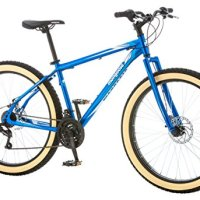 "Mongoose Men's Rader 27.5+ 3"" Fat Tire Bicycle, Blue, 18""/Medium"