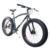 "Alton Mammoth / Fat-Tire Bike / 26"" Wheel / 7-Speed / Alloy Frame / Black"