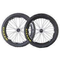 ICAN 26er 90mm Carbon Fatbike Wheelset with Fat Maxxis 4.8 Inch Foldable Tire