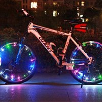 (2 Pack) Bike Wheel Lights, Anteer USB Rechargeable 20 LED Bicycle Spoke Lights - Waterproof Colorful Cycling Safety Rim Lights, Super Cool Tire Accessories for Cycle Wheel Spokes or Rim