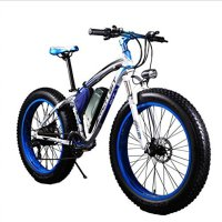 RICH BIT TP012 Electric Fat Bike Mountain Bicycle Snow Bike Cruiser Ebike 1000 Watt Motor 48V 17Ah Lithium-ion Battery 20''4.0 inch Fat Tire Suspension Fork Blue
