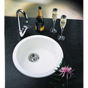 blanco 511631 rondo round drop in silgranit bar sink white