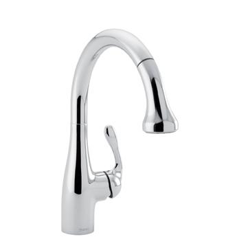 hansgrohe 04066000 allegro e gourmet pull down prep kitchen faucet chrome