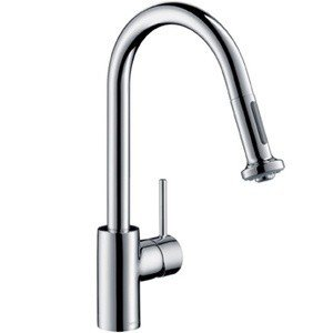 hansgrohe 14877001 talis s 2 kitchen faucet with pull down 2 sprayer chrome