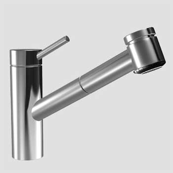 kwc 10 271 033 700 suprimo one handle pull out spray kitchen faucet stainless steel