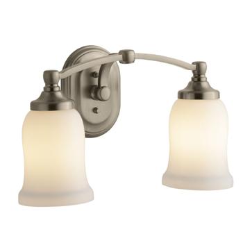 Kohler K-11422-BV Bancroft Double Wall Sconce - Brushed ... on Bathroom Sconce Lights Brushed Bronze id=79640