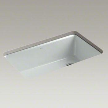 kohler k 5871 5ua3 95 riverby single bowl undermount kitchen sink with accessories ice grey