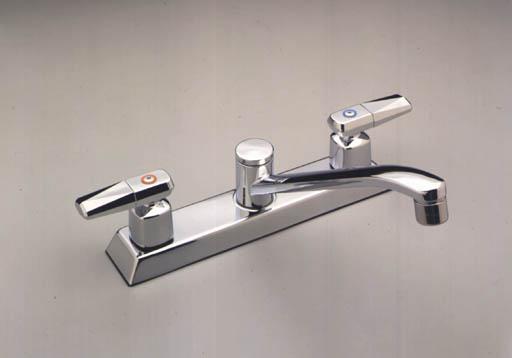 moen 8780 commercial two handle kitchen faucet chrome