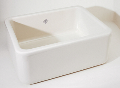 Rohl RC2418WH Shaws Original Fireclay Apron Kitchen Sink